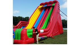 Image of a Triple Lindy 3 Lane Inflatable Slide