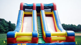 Image of a Accelerator Double Lane Inflatable Slide