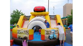 Image of a Cars Speedway Inflatable Obstacle Course