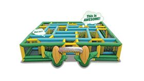 Image of a Giant Inflatable Corn Maze