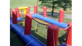Image of a Human Foosball Inflatable Game