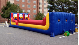 Image of a 3 Lane Bungee Basketball Inflatable Game