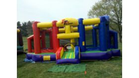 Image of a Triple Threat Inflatable Sports Bounce House