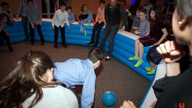 Image of a Gaga Inflatable Dodge Ball Pit