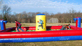 Image of a First N Goal Inflatable Football Bungee Challenge