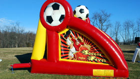 Image of a Soccer Fever Inflatable Kicking Game