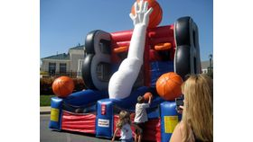 Image of a Full Court Press Inflatable Basketball Game