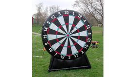 Image of a Bull's Eye Giant Inflatable Darts Game