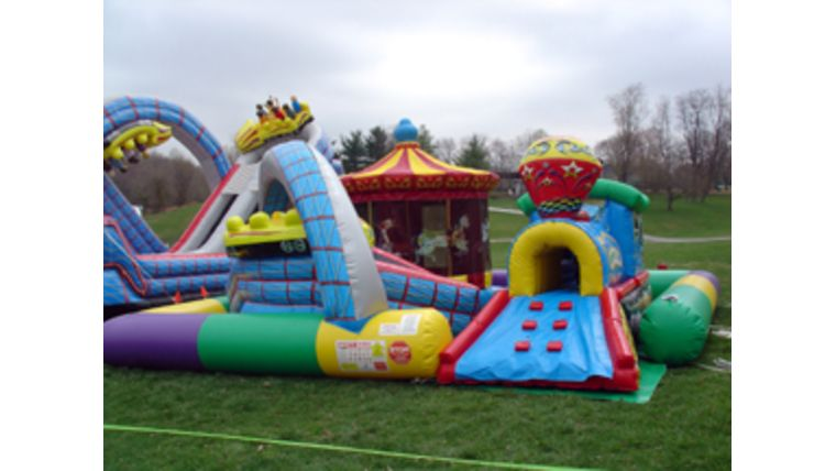 Picture of a Inflatable Amusement Park