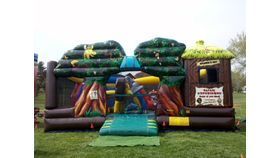 Image of a Safari Experience Inflatable Bounce Slide