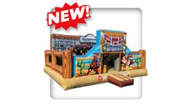 Image of a Old West Inflatable Playland