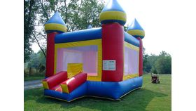 Image of a Deluxe Red Castle Small Moonbounce