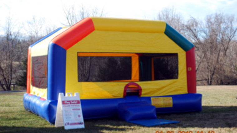 Picture of a Large Party House Moonbounce