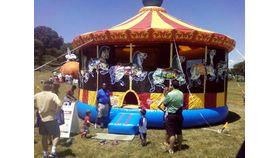 Image of a Mega Carousel Moonbounce