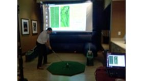 Image of a Virtual Golf Game