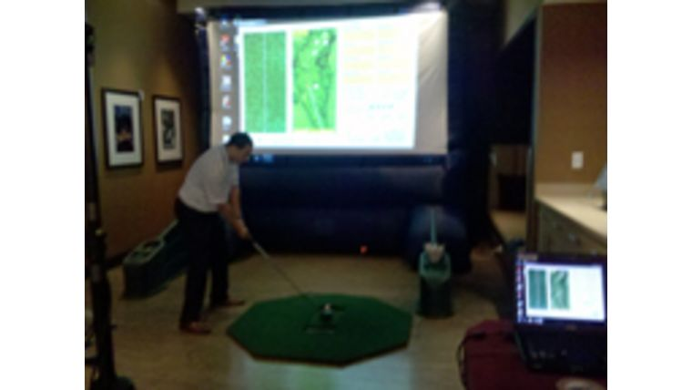 Picture of a Virtual Golf Game
