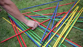 Image of a Giant Pick Up Sticks Game