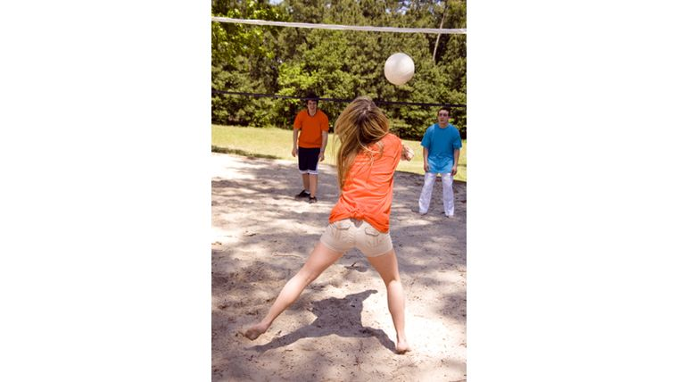 Picture of a Outdoor Volleyball Set