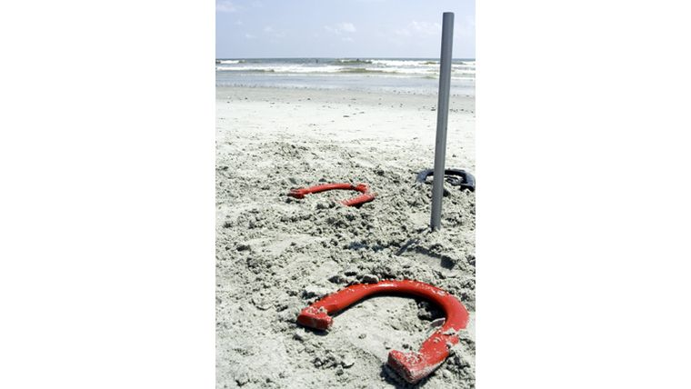 Picture of a Horseshoes Set