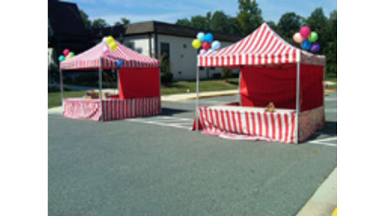Image of a Red & White Carnival Booth