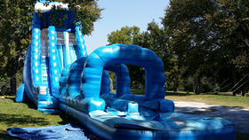 Image of a Blue Crush Inflatable Slide and Splash Combo
