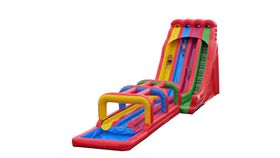 Image of a Triple Lindy Inflatable Slide and Surf Combo