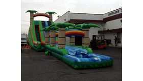 Image of a Tropical Slide and Splash Combo