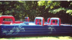 Image of a Inflatable Water Tag Maze