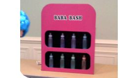 Image of a Baby Bottle Bash Carnival Game