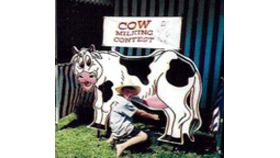 Image of a Cow Milking Contest Carnival Game