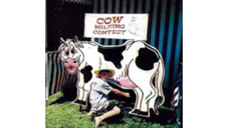 Picture of a Cow Milking Contest Carnival Game