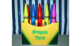 Image of a Crayon Ring Toss Carnival Game