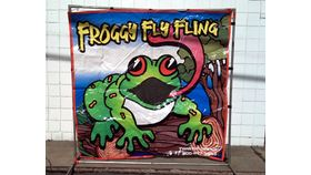 Image of a Froggy Fly Fling Toss Carnival Game