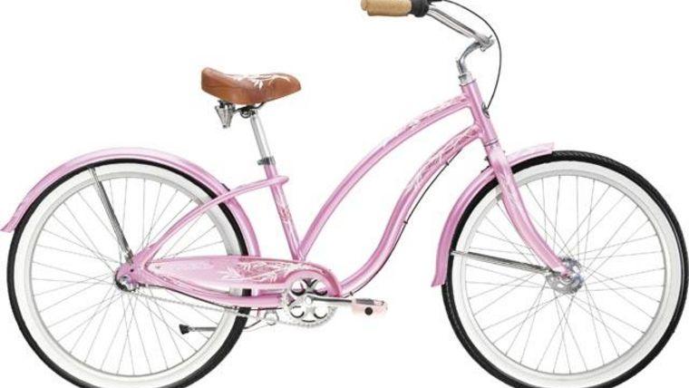 Image of a Vintage Pink Bicycle