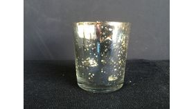 Image of a Silver Mercury Glass Votives
