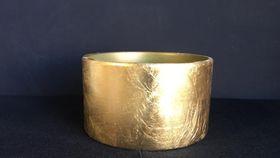 Image of a Brushed Gold Vessel