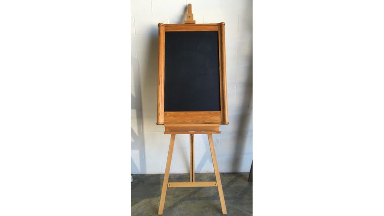Picture of a Cherry Wood Chalkboard + 6' Stand