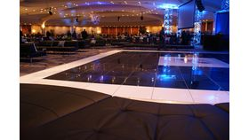 Lucite Dance Floor - White or Black - Buffed on Site! image