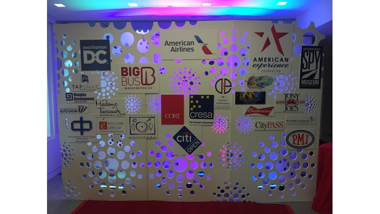 Picture of a LED Swiss Cheese Panel - Step and Repeat 8'x 12'