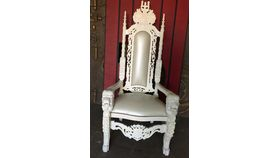 Image of a Throne - White