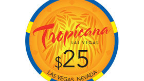 Image of a Tropicana Poker Chip, Frond