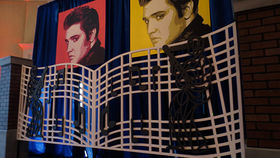 Image of a Entrance: 1950s, Elvis' Graceland Gate - Music Theme