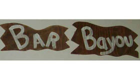 Image of a Bayou Bar Sign