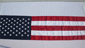 Image of a American Bunting, US Flag Vertical