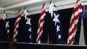 Image of a Flutter Flag, Blue and White Stars (nylon)