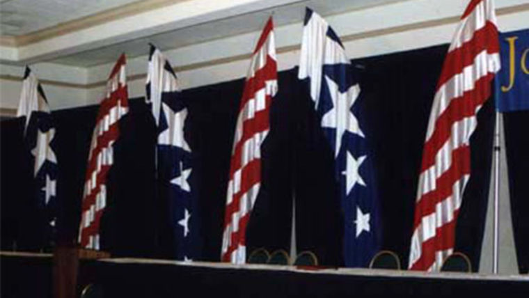 Picture of a Flutter Flag, Blue and White Stars (nylon)