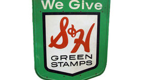 Image of a S&H Green Stamps Sign