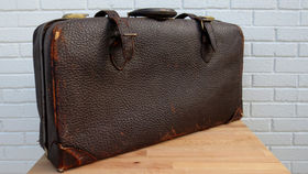 Image of a Vintage Luggage, Dark Brown Satchel