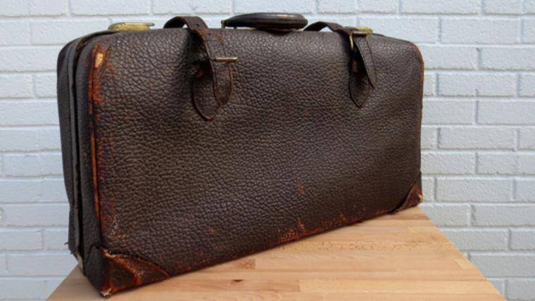 Picture of a Vintage Luggage, Dark Brown Satchel