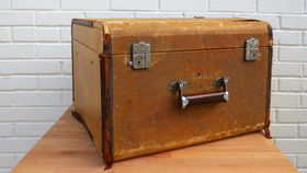 Image of a Vintage Luggage, Tan Square